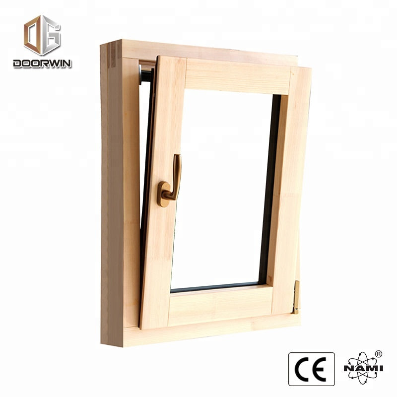 NAMI Certified floor to ceiling windows cost flat roof wood windowsby Doorwin on Alibaba