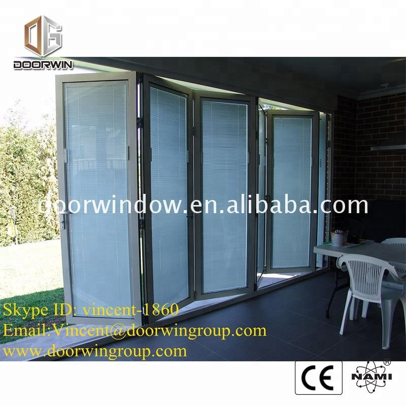 New York best quality Folding windows and doors with hollow glass