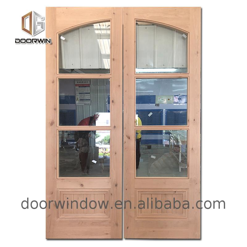 New design wooden interior doors with frosted glass wood door styles double front