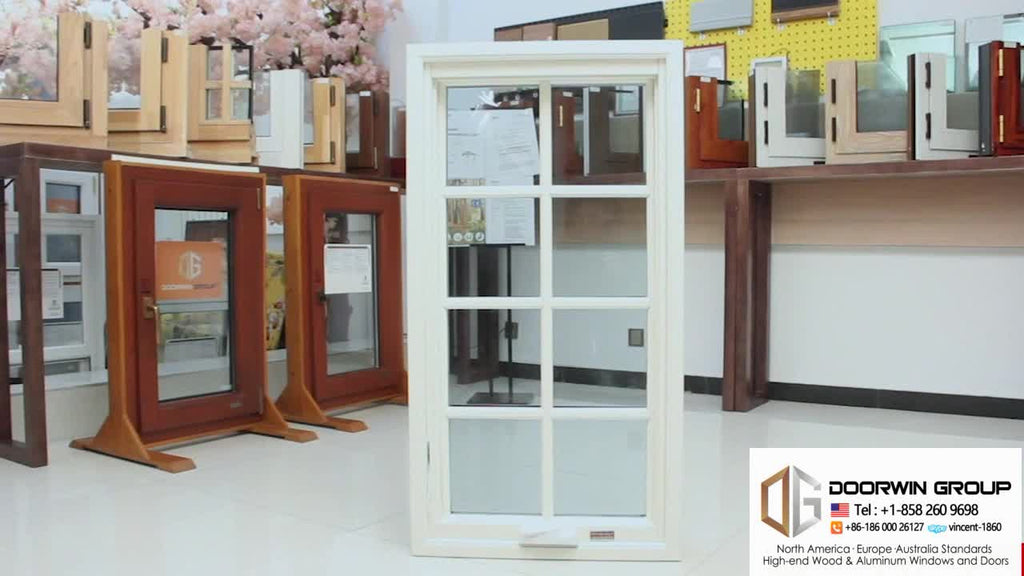Factory Directly Sell aluminum and wooden windows american crank casement window