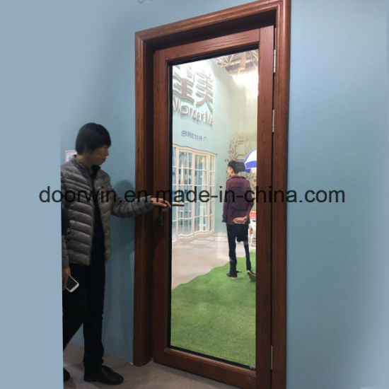 Oak Wood Patio Door with Aluminum Cladding From Outside, Hinged Timber Door - China Back Door Entry Door, Commercial Glass Entry Door