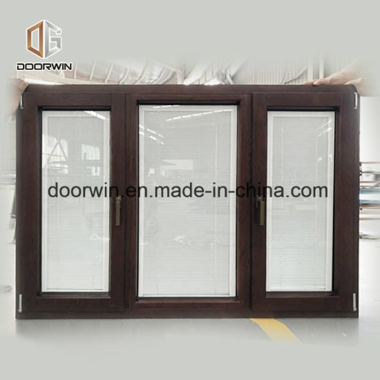 Oak Wood Window - China Casement Window, 3 Glass Windows