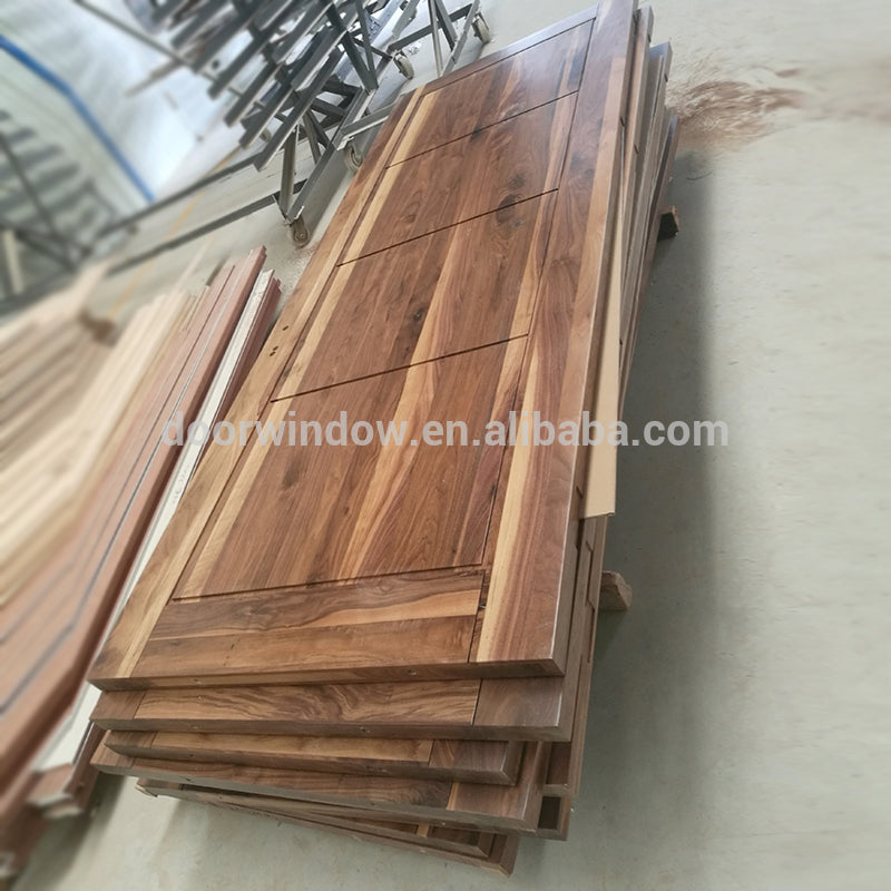 Order from china direct main door frame designs natural color black walnut hinged door import from China by Doorwin