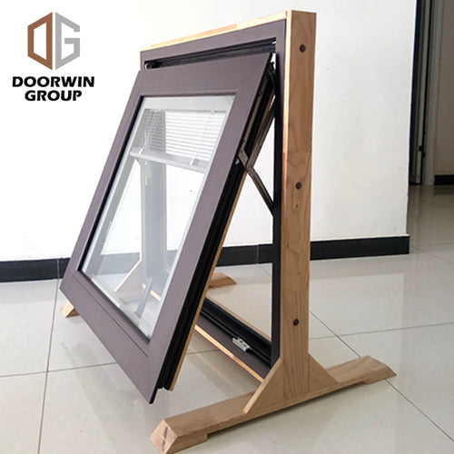 Awning window with built in shutter