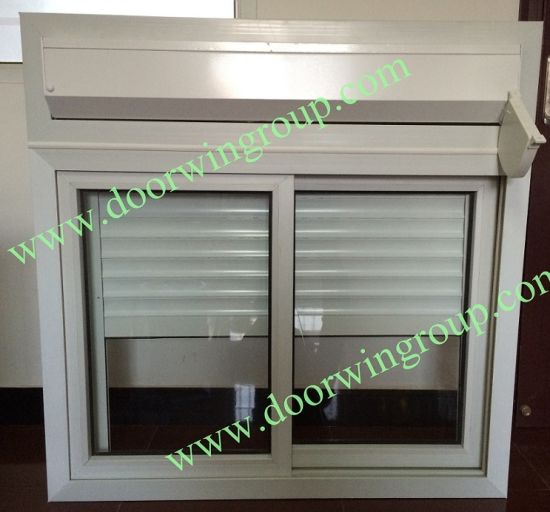 PVC Glass Window with Manual Blinds/Shutters for Container House, Slinding Sash Window with Single or Double Glazing Glass - China Durable PVC Window, Strong PVC Glass Window