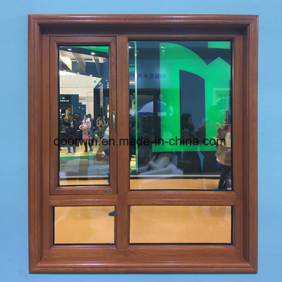 Red Oak Wood with Exterior Aluminium Cladding Outswing Window - China Awning Window, Aluminum Awning Windows