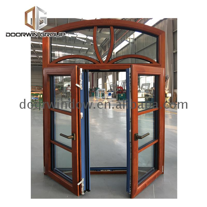 Round shape window glass that open retractable security grille by Doorwin on Alibaba