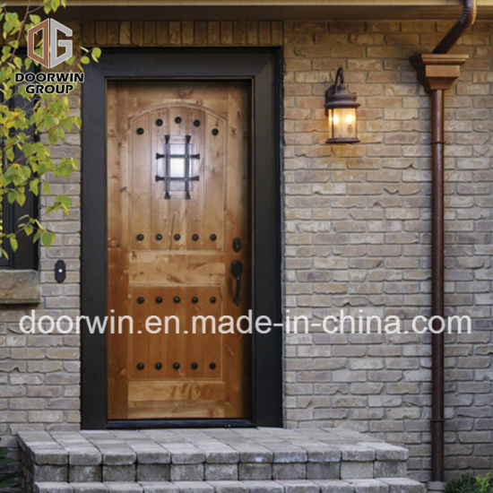 Rustic Series Knotty Alder Exterior Wood Doors Solid Wood Front Door for House - China Knotty Alder Exterior Doors, Exterior Wood Doors