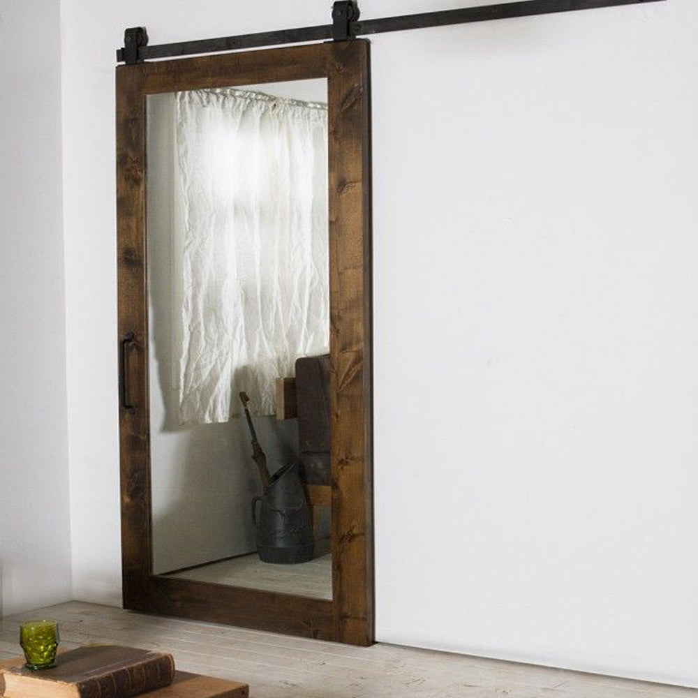 Rustic Style Finished Mirror Sliding Barn Doors by Doorwin
