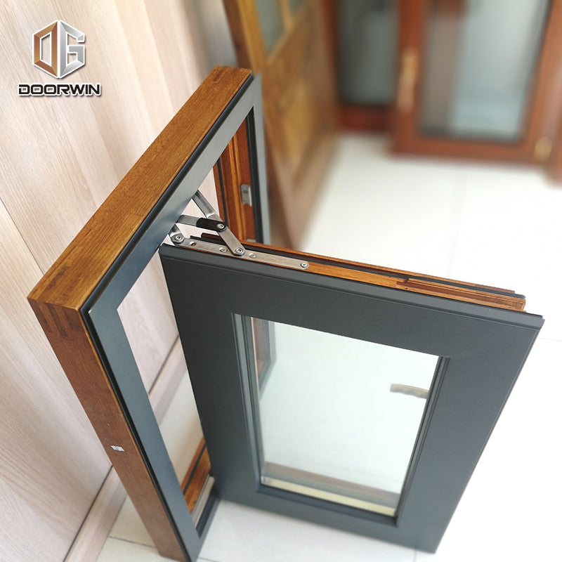 Security windows opening 180 degree aluminum casement office door with glass window