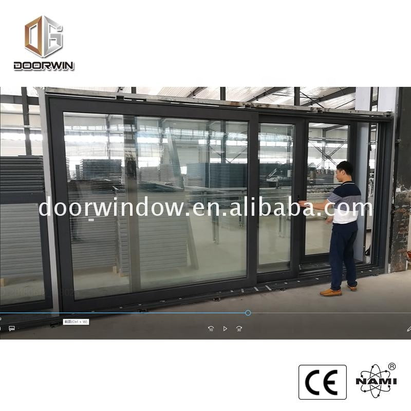 Shower sliding door glass