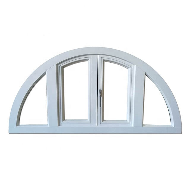 Small decorative house swing out window, 4 panels casement windows