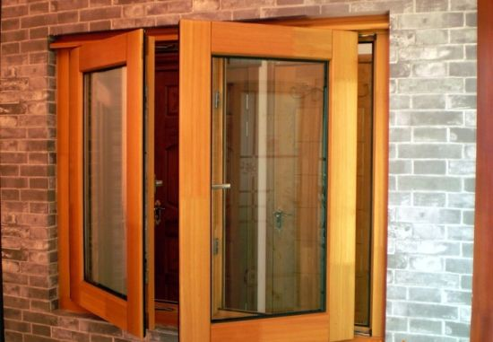 Solid Larch/Pine Wood Aluminum Casement Window - China Wood Windows, Wood Window