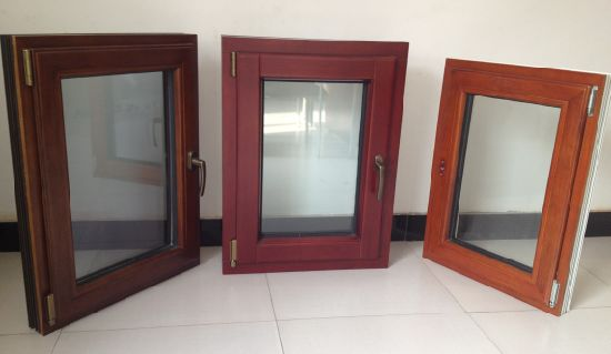 Solid Oak Wood Aluminum Casement Glass Window - China Aluminium Wooden Window, Aluminium-Wooden Window