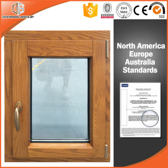 Solid Oak Wood Aluminum Casement Window with Security and Sizes Customized - China Casement Window Security, Casement Window Security Locks