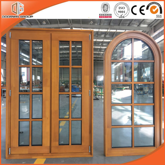 Solid Pine / Larch Wood Casement and Fixed Window with Full Divided Light - China Wooden Window, Wood Casement Window