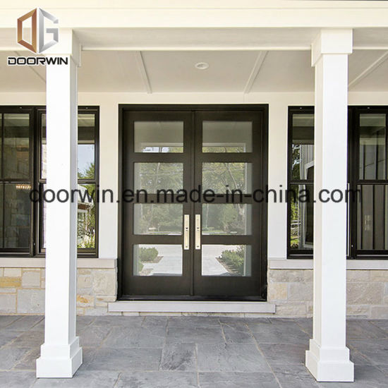 Solid Teak Wood Aluminium French Door - China Aluminium Wood Door, Aluminum Door