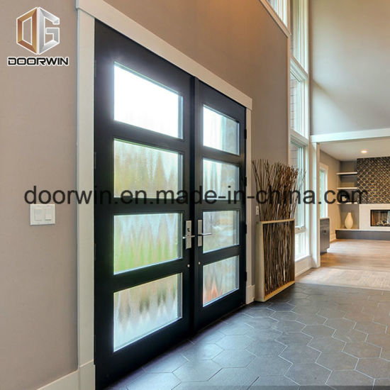 Solid Wood Aluminium French Door, Wood Aluminum Door From Chinese Professional Wood Aluminum French Door Designer - China Wood Clad Alu Door, Alu Clad Wood Glass Door