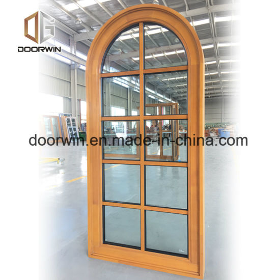 Solid Wood Arched Design Window - China America Energy Star Wood Aluminum Window, Passive Wood Windows