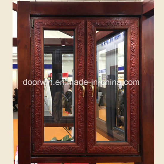 Solid Wood Windows - China Fixed Round Window, Arched Window with Grill Design