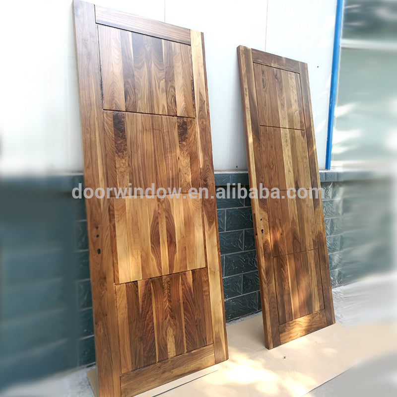 Soundproof unstained finger joint wood board with walnut veneers flush door for home by Doorwin