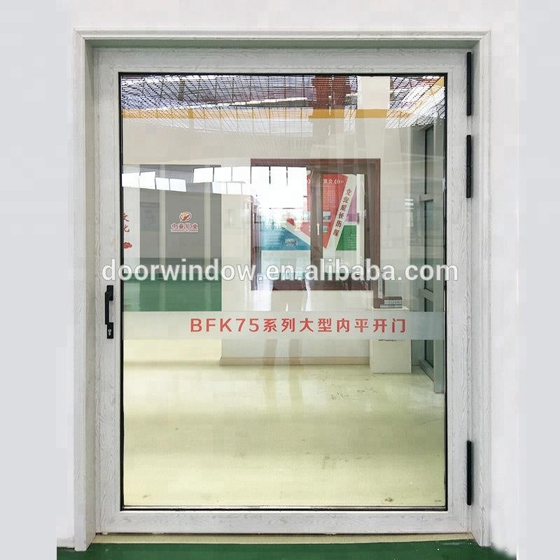 Super September Purchasing 2018 Hot Selling Front 180 degree interior glass hinge swing door Home Exterior Aluminum Glass Door by Doorwin