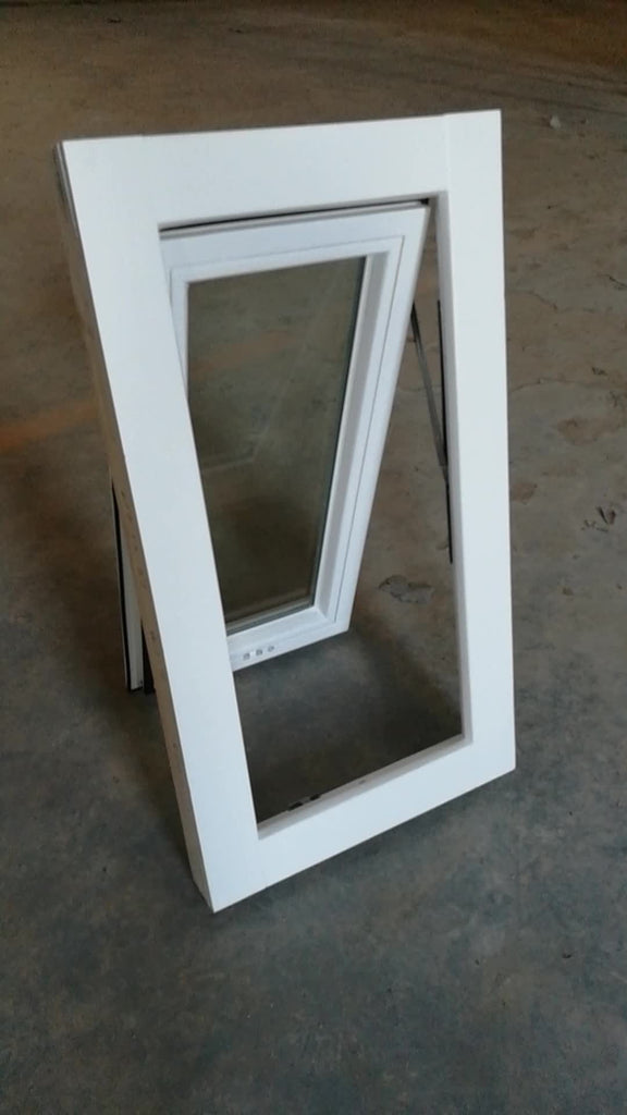 white stain wood aluminum asian style double glazing good sealed awning windows made by china factory