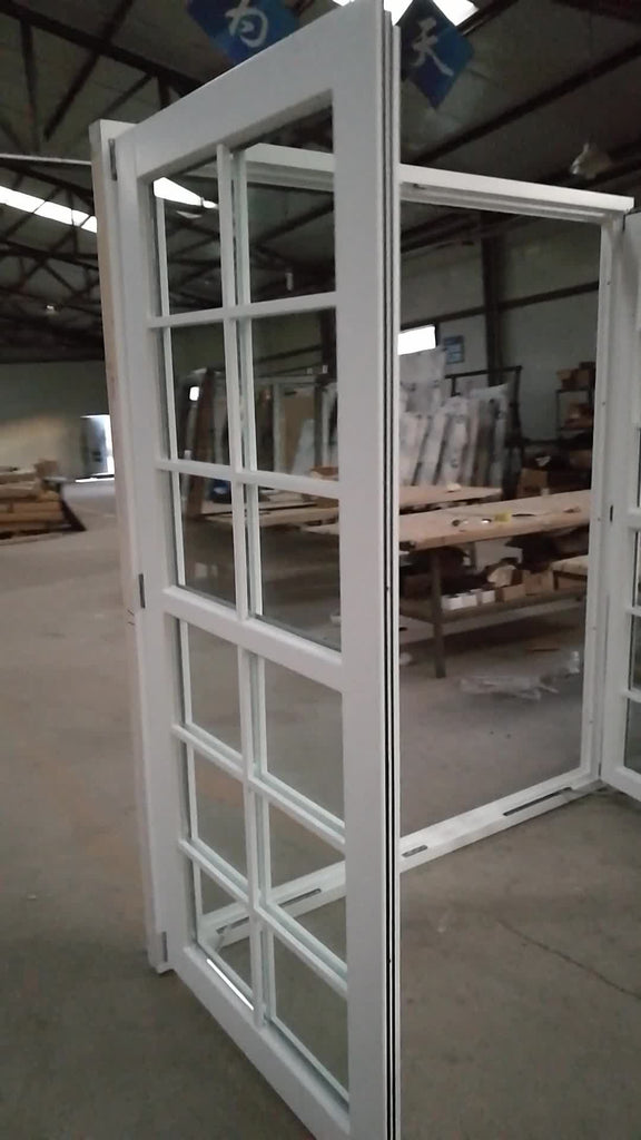 Iv68 series white color window italian wood style windows by Doorwin on Alibaba
