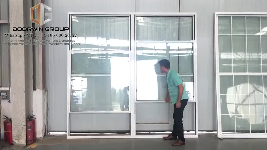 Ultra clear glass single triple hung alu windows by Doorwin on Alibaba