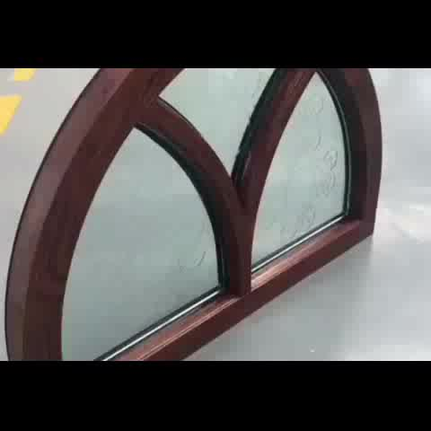 Fixed arch top window double glazed arched glass roundby Doorwin on Alibaba