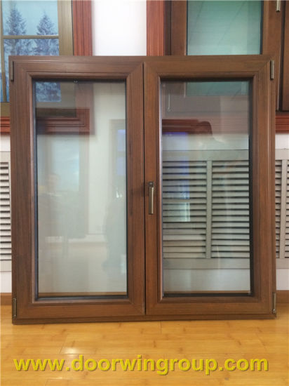 Teak Wood Aluminum Fixed Window with Tempered Glass - China Aluminium Window, Wood Window