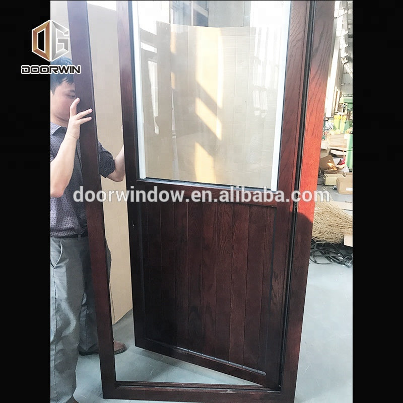 Teak wood front door design entrance doors swinging shutter by Doorwin on Alibaba
