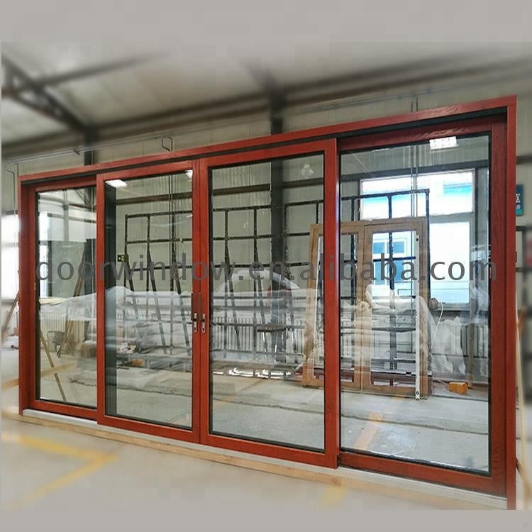 Texas Garage door design aluminum sliding lock frosted glass glazed fireproof by Doorwin on Alibaba