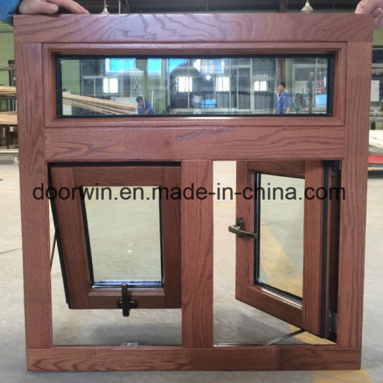 Thermal Break Aluminum Clad Solid Wood Awning Window, Modern American Style Aluminum Top Hung Wood Windows, - China Aluminum Awning Window, Aluminum Window