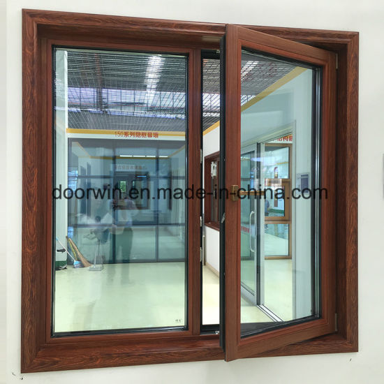 Thermal Break Aluminum Window with Interior Solid Wood Clading - China Tilt and Turn Window, Latest Window Designs