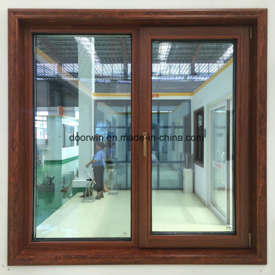 Thermal Break Aluminum Window with Interior Wenge Wood Clading - China Tilt and Turn Window, Casement Window