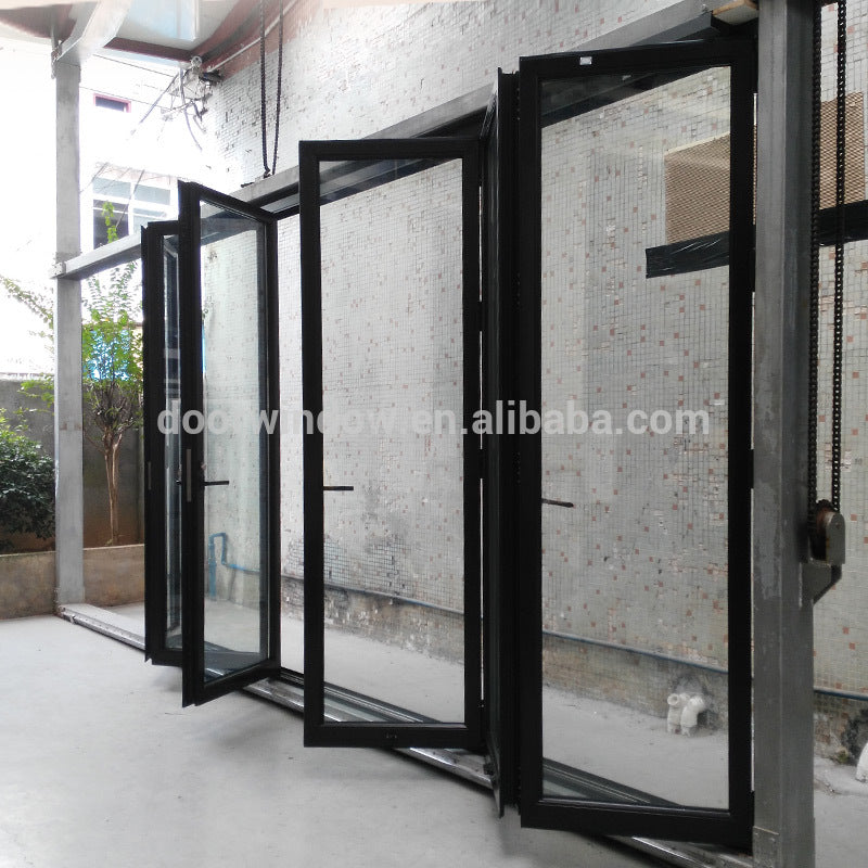 Thermal break aluminum 8 panels lowes bi fold outdoor bi folding door by Doorwin