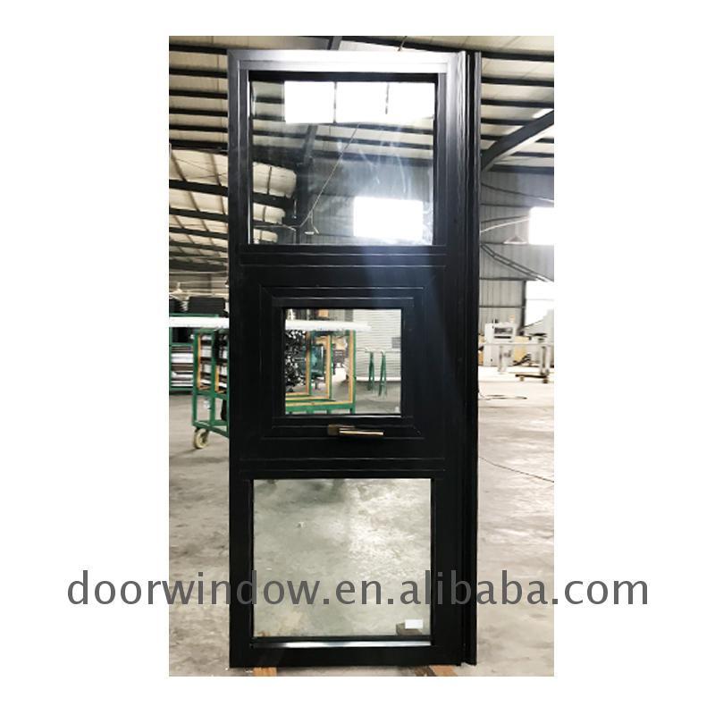 Thermal-break aluminum windows tempered glass style window