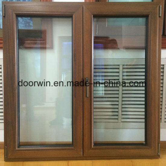 Tilt Turn Teak Wood Clad Aluminum Window - China Timber Oak Wood, Sliding Door