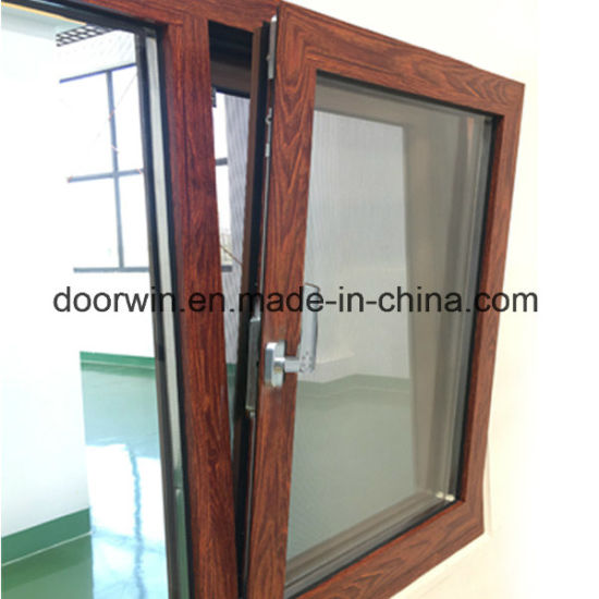 Tilt and Turn Thermal Break Aluminum Window Fitted with Coded Lock Handle - China Timber Wood, Timber Cladding