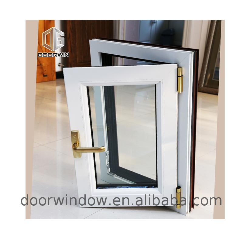 White tilt and turn thermal break aluminum windows