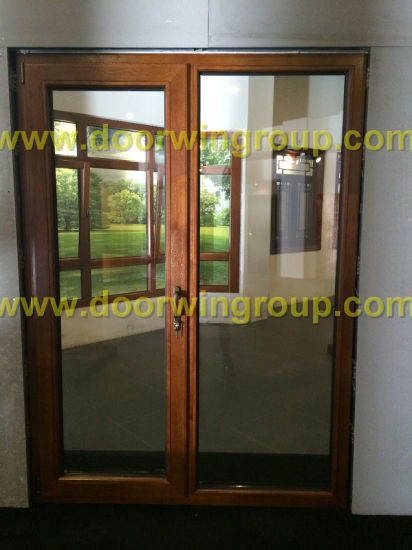 Timber Aluminum Patio Door, Double/Triple Glazing Tempered Glass Door, High Quality Wood Aluminum Hinged Door - China Wood Clad Alu Door, Alu Clad Wood Glass Door