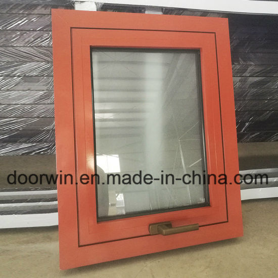Top Hung Window Thermal Break Aluminum Window with Frosred Glass for Sale - China Window, Glass Panel Window