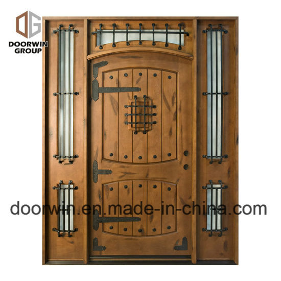Top Iron Clavos Design Antique Arched Doors Wood Exterior Doors for a House - China Entry Door, French Entry Door