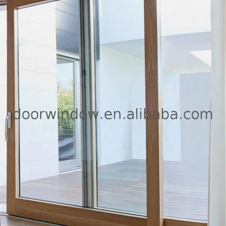 Top quality grey aluminium sliding patio doors frameless four panel
