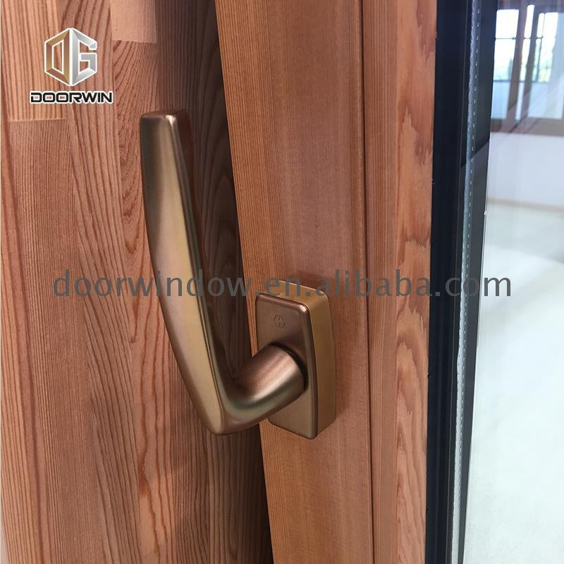 Type of office window curtain teak wood partition glass wall by Doorwin on Alibaba