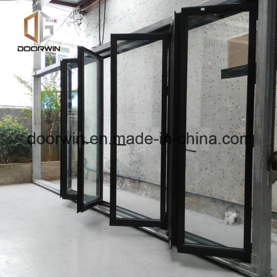 USA Quality Thermal Break Aluminum Bifold Glass Door - China Accordion Door Hardware, Folding Door Design