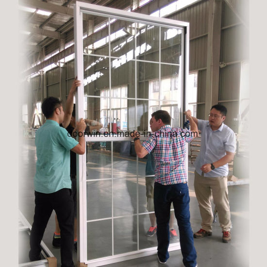 Ultra-Large  Type Single Hung Thermal Break Aluminum Window Export to USA - China Double Hung Window, Slide up Windows