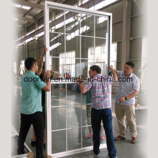Ultra-Large&Nbsp; Type Single Hung Thermal Break Aluminum Window Export to USA - China Series White Color Window, Aluminium Frame and Glass Window