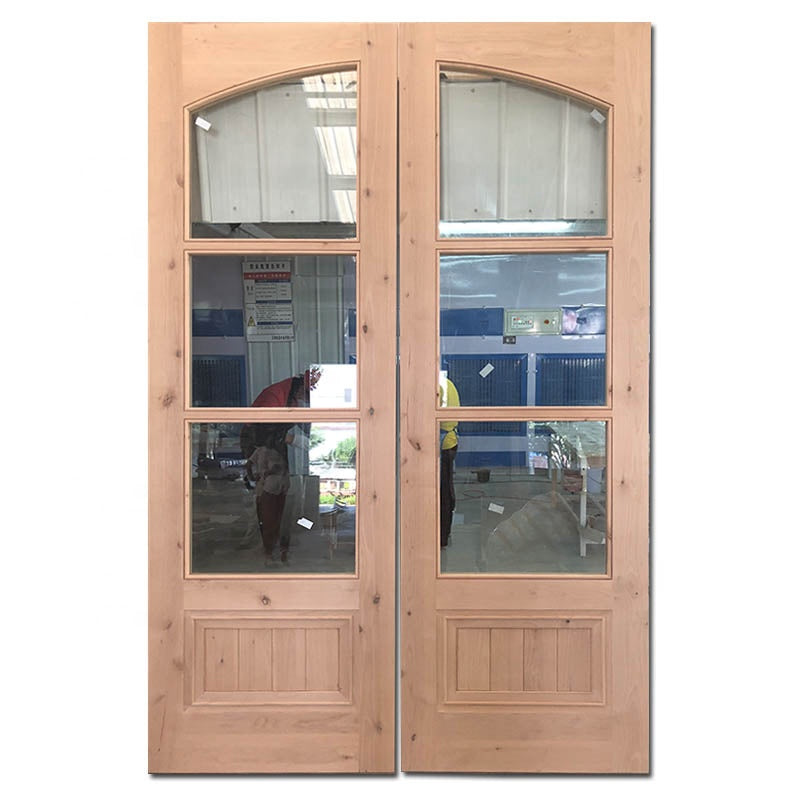Ultra clear tempered glass swing door triple glazing swing door townhouse swing door